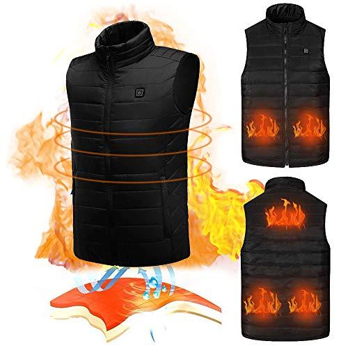 KOBWA Chaleco calentador eléctrico, chaleco de chaleco para hombre y mujer, abrigo...
