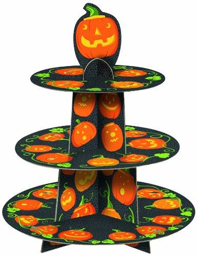 Cupcake Ständer Halloween Kürbis für bis zu 24 Cupcakes (Les Dessins Dhalloween)