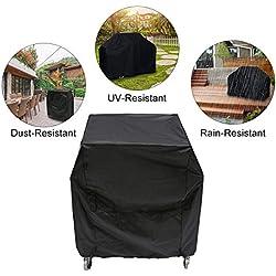 Essort - Funda impermeable para barbacoa, tela protectora para parrilla grill, color negro, 80x 66x 100cm