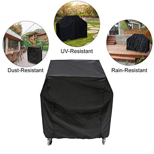 Essort copertura impermeabile per barbecue, 80x66x100cm bbq copri barbecue impermeabile impermeabile, resistente alla polvere e ai raggi uv 210d oxford nero (garanzia di 1 anni)