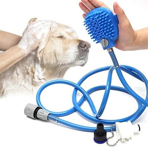 Rociador de ducha para mascotas Herramienta de baño para mascotas Ducha de baño para mascotas al aire libre, rociador portátil de mano, masajeador de baño para perros y gatos