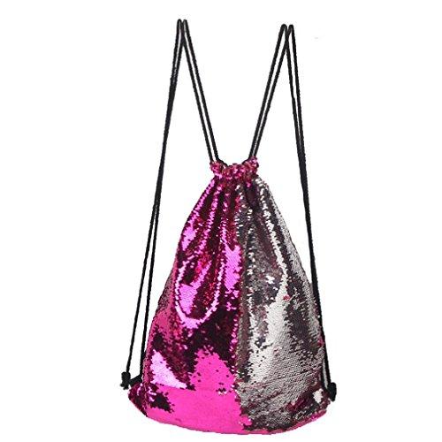 Damenhandtaschen Ronamick Mode Outdoor Roses Sport beiläufige doppelte Farbe Pailletten Unisex Brust Tasche (E)