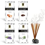 Zed Black Luxury Premium Fragrance Incense Sticks Combo of 4 Different Fragrances for Aromatic Environment