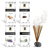 #9: Zed Black Luxury Premium Incense Sticks Combo - 4 Different Fragrances for Aromatic Environment - Fragrance Incense Sticks