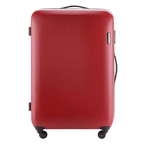 WITTCHEN Leichtgewicht Koffertrolley Hartschalen Koffer reisekoffer Bordgepäck (Rot, L)