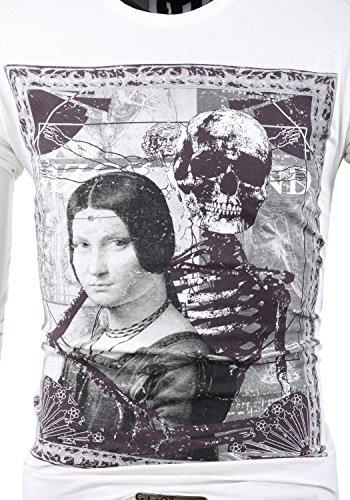 MZGZ Herren Langarmshirt Longsleeve Shirt 6650 Thepaint ecru (10)