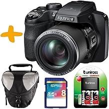 Fuji Finepix S9200 Fotocamera Digitale Nero + 8GB + Case + Battery Charger & NiMh ricaricabili. (16.2MP sensore CMOS, zoom ottico 50x, filmati Full HD)
