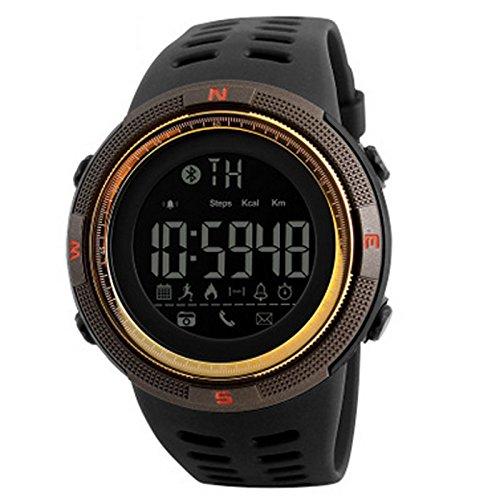 Der Outdoor-Mode Bluetooth Smart Meter Schritt erinnert die Uhr an die ios Android Mobile Smart Watch zu unterstützen. ( Farbe : Gold )