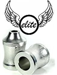 Elite Concave Patinete Pegs + ejes & Tornillos plata