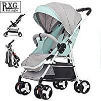 Folding Stroller, Lightweight Stroller,Compact Travel Buggy,One Hand Foldable,Five-Point Harness,Great for Airplane (Green)