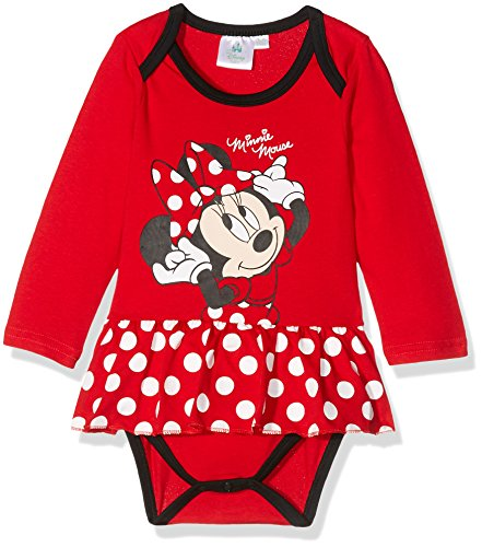 Disney 160604, body bimba, rouge (racing red 19-1763tcx/white/black), 18 mesi