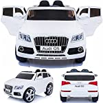 simron Audi Q5 Quattro SUV Elektro Kinderauto Kinderfahrzeug Ride-On 12V Kinder Elektroauto -weiss-