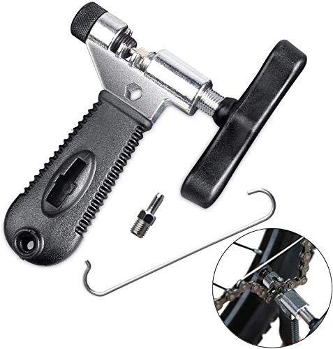 Tagvo Bike Chain Tool, Kettenwerkzeug Kettennieter für 7 8 9 10 fach Fahrradkette Kettennietdrücker Ketten Entferner Edelstahl Schwarz