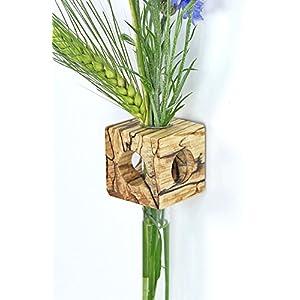 Fenstervase Buche gestockt Blumenvase test tube vase