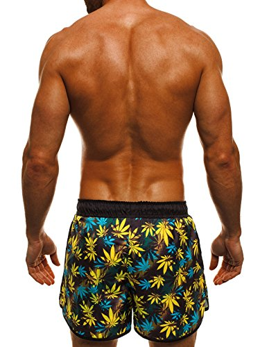 OZONEE Herren Badeshorts Badehose Schwimmhose Schwimmshorts Shorts ATHLETIC 716 Mehrfarbig_ATH-0732-1