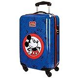 Disney Hello Mickey Equipaje Infantil, 55 cm, 35 Litros, Azul