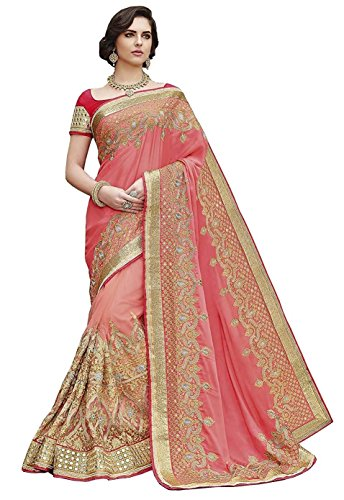 Magneitta Georgette Saree With Blouse Piece (97066_Multi coloured_Free Size)
