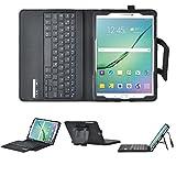 Samsung Galaxy Tab S2 9.7 Bluetooth Tastatur [QWERTZ Tastatur]- IVSO mit Standfunction , Abnehmbare Wireless Bluetooth Tastatur Schutzhülle NUR geeignet für Samsung Galaxy Tab S2 T810N/T815N/T819N/T813N 24,6 cm (9,7 Zoll) Tablet-PC, Schwarz