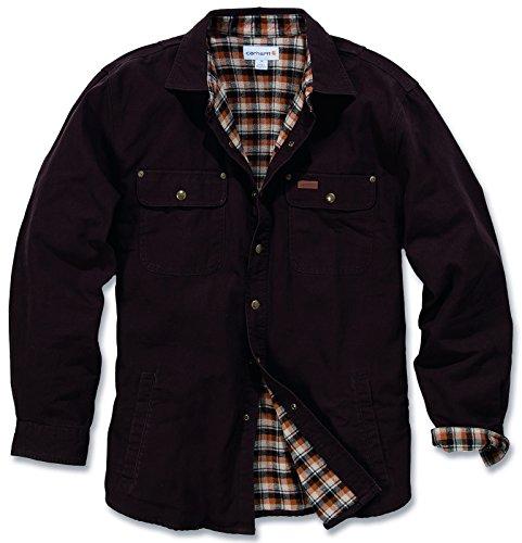 Weathered Canvas Shirt Jacket Carhartt Schwarz
