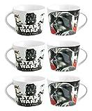 Home Star Wars Rogue - 1 Paquete con 6 Tazas de café de Porcelana, Multicolor, 8 x 6 x 5 cm