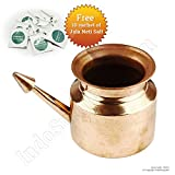IndoSurgicals Copper Jala Neti Pot for S...