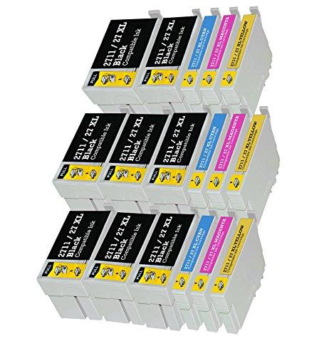 AiMoMo T2711-T2714 Cartucce inchiostro Compatibili cartuccia per stampante Epson WorkForce WF-7110-DTW,7610-DWF,WF-7620-DTWF,WF-3620, WF-3640-DTWF 8 Nero, 3 Ciano, 3 Magenta, 3 Giallo