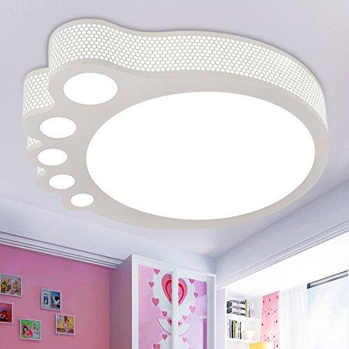 (GBYZHMH Kinderzimmer Deckenleuchte Mädchen Junge Cartoon Kind Lichter im Raum große Füße Schlafzimmer Leselampe, L50*W44*H 9 cm Fernbedienung dimmbare LED)