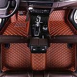 Cobear Fussmatten Auto 3D Autoteppich für F IAT 500 2011-2012 Hatchback Individuelle Passform Kunstleder wasserdichte 3D Voll Auto Matten Braun 1 Set
