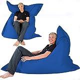 Hi-BagZ 4-Way Bean Bag Lounger HUGE 180cm x 140cm - GIANT Outdoor Floor Cushion Bean Bags BLUE - 100% Water Resistant Beanbag