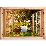murando - 3D WANDILLUSION Wandbild - Fototapete - Poster XXL - Fensterblick - Vlies Leinwand - Panorama Bilder - Dekoration - Natur Landscape 70x50 cm
