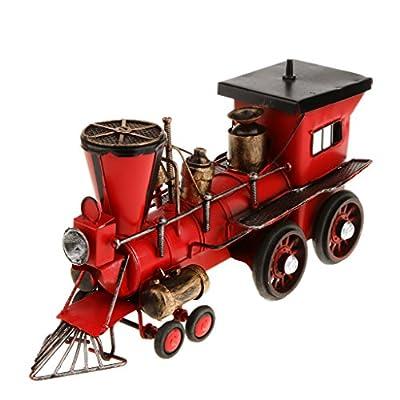 Metall Nostalgie Lokomotive Zug, Dampflok Train 30 cm von Unbekannt