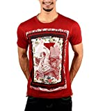 GREYBOOZE MAROON PRINTED PURE COTTON HAL...