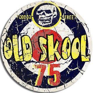 voodoo-street-adhesivo-redondo-con-texto-old-skool-75-en-lengua-extranjera
