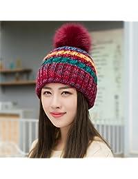 YangR Winter Caps children tide stylish spell color knitting 05ae346257b3