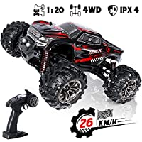 SGILE Remote Control Car,1:20 Off-Road Truck 26km/h Fast Rock Crawler Vehicles for Kids