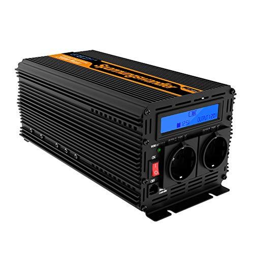 EDECOA Power Inverter Onda Modificata 2000w 4000w Trasformatore di Potenza Convertitore DC 12v in AC 220v AC 230v AC 240v Schermo LCD Display Invertitore di Potenz