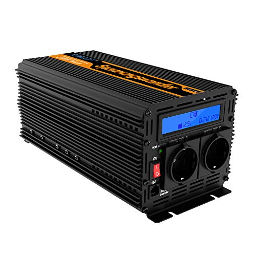 convertisseur onde sinus modifiée 12v 220v onduleur 2000 4000w LCD transformateur de tension