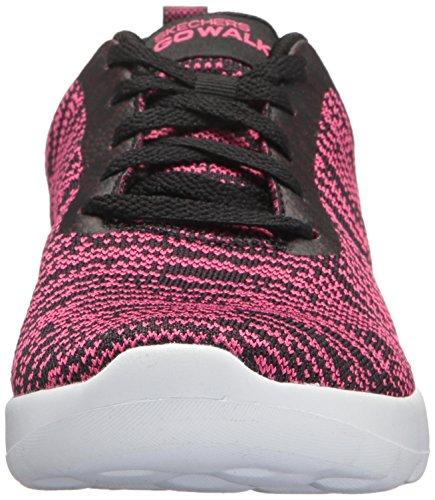 Skechers Go Walk Joy-Rapture, Sneaker Donna Nero (Black/hot Pink)