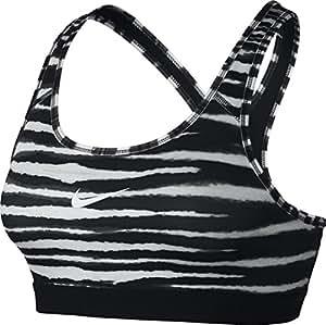Nike Women's Pro Classic Tiger Bra - Black/White/White, X