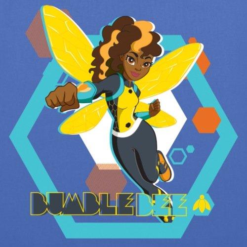Spreadshirt Dc Supereroe Ragazze Bumblebee Stoffbeutel Hellblau