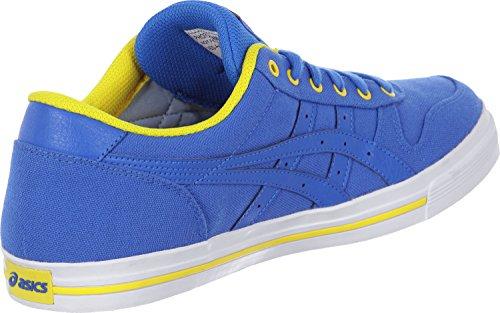 Asics Aaron, Baskets Basses Mixte Adulte bleu jaune