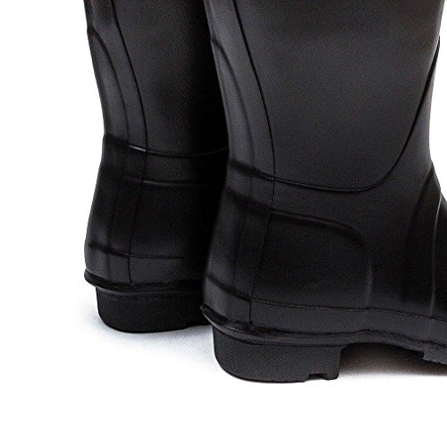 Donna Hunter Original Tall Pioggia La Neve Wellingtons Wellies Impermeabile Stivali Nero
