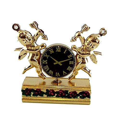 Melody Jane Puppenhaus Miniatur Kaminsims Ornamental Twin Cherub Uhr -
