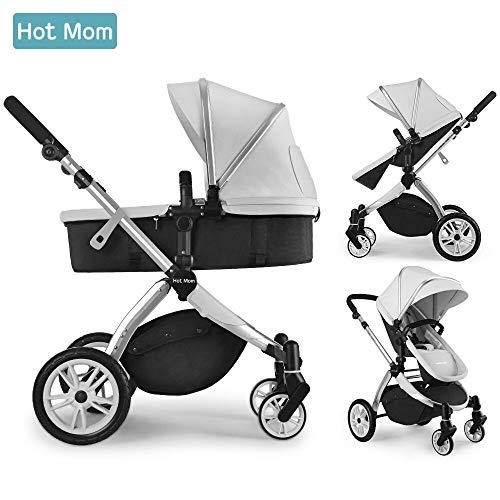 Hot Mom Multi cochecito cochecito 2 en 1 con buggy 2018 nuevo diseño - Grey