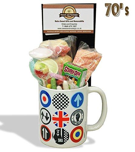Mod / Northern Soul / Ska icons Mug with 70's retro sweets.