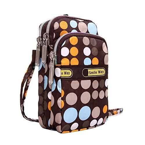 TEBAISE Phone Tasche Armtasche Modische Sonnenblume Muster Zipper Sport-Armband für iPhone Smartphone Armbänder Schultertasche Umhängetasche als handytasche Geldbörse für Damen Mädchen