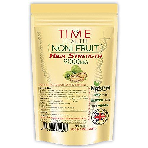Noni-Frucht-Extrakt 9000 mg Premium SEHR STARK – Größte Vorteilspackung – 120 Kapseln