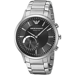 Emporio Armani Connected Hybrid-Smartwatch plata/negro