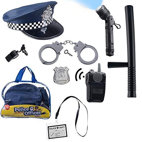 Born Toys 10 PCS Police Hat und Toys Rollenspiel für Swat, Detective, Halloween und Police Kostüm Dress ()