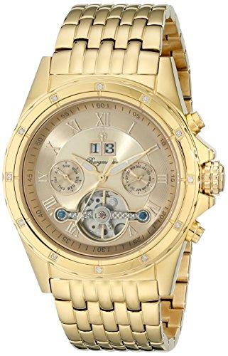 Burgmeister Armbanduhr für Herren mit Analog Anzeige, Automatik-Uhr mit Edelstahl Armband - Wasserdichte Herrenuhr mit zeitlosem, schickem Design - klassische Uhr für Männer - BM127-279 Royal Diamond